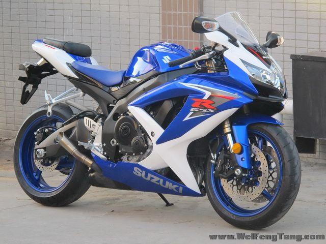 2008款 铃木GSX-R600 小R K8 蓝白色 图片 1