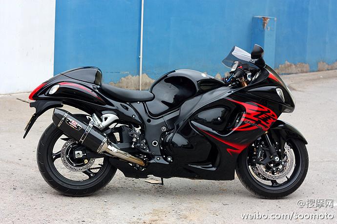 新到11款 铃木GSX1300R 隼 欧版原漆 改装吉村排气及脚踏 两套配件 Hayabusa图片 2