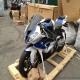 2013款全新宝马S1000RR HP4 跑车 蓝白色 全段天蝎排气1