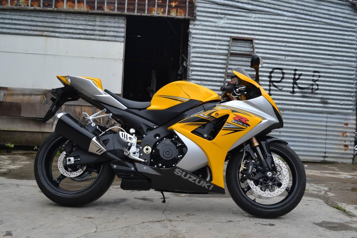 2007款铃木GSX1000 铃木大R K7 黄色 带银边不到七千公里 图片 0