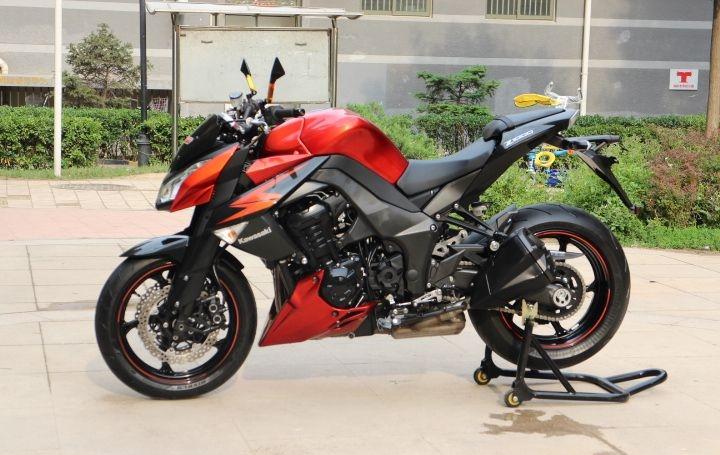 橘色2012款川崎Z1000 两千多公里,红黑色,超级霸气的街车 Z1000图片 3